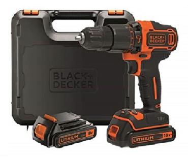 Akumulatorowa wiertarko-wkrętarka udarowa Black&Decker BDCHD18KB