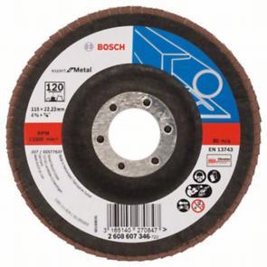 Tarcza szlifierska Bosch Listkowa tarcza szlifierska X551 Expert for Metal /D 115mm /K 120 /wygięta